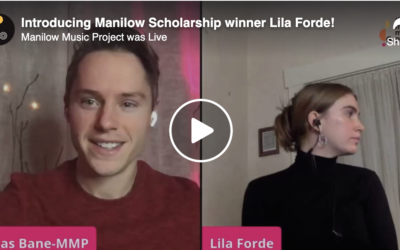 We Went Live With Manilow Scholarship Winner Lila Forde